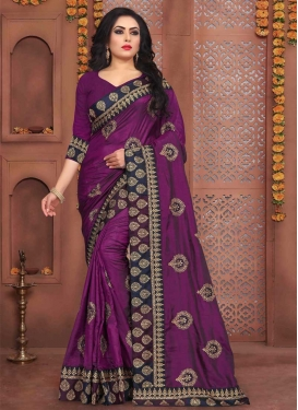 Art Silk Classic Designer Saree For Festival