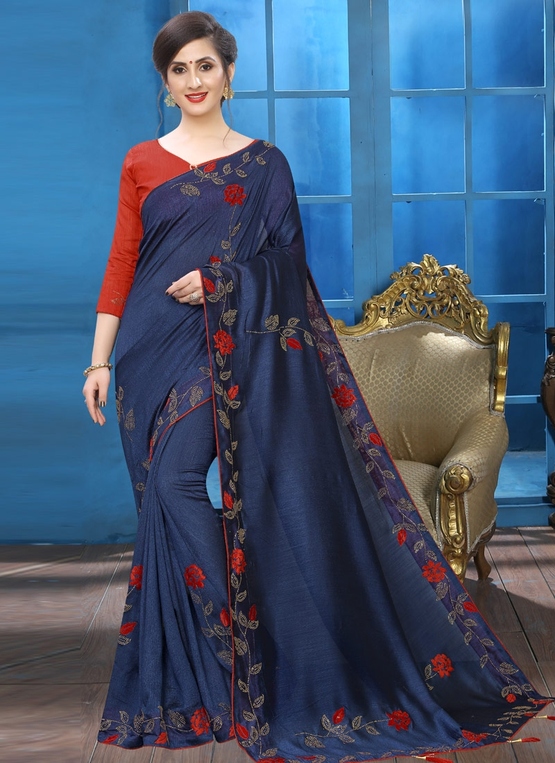 Art Silk Contemporary Saree