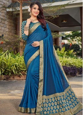 Art Silk Contemporary Saree For Ceremonial