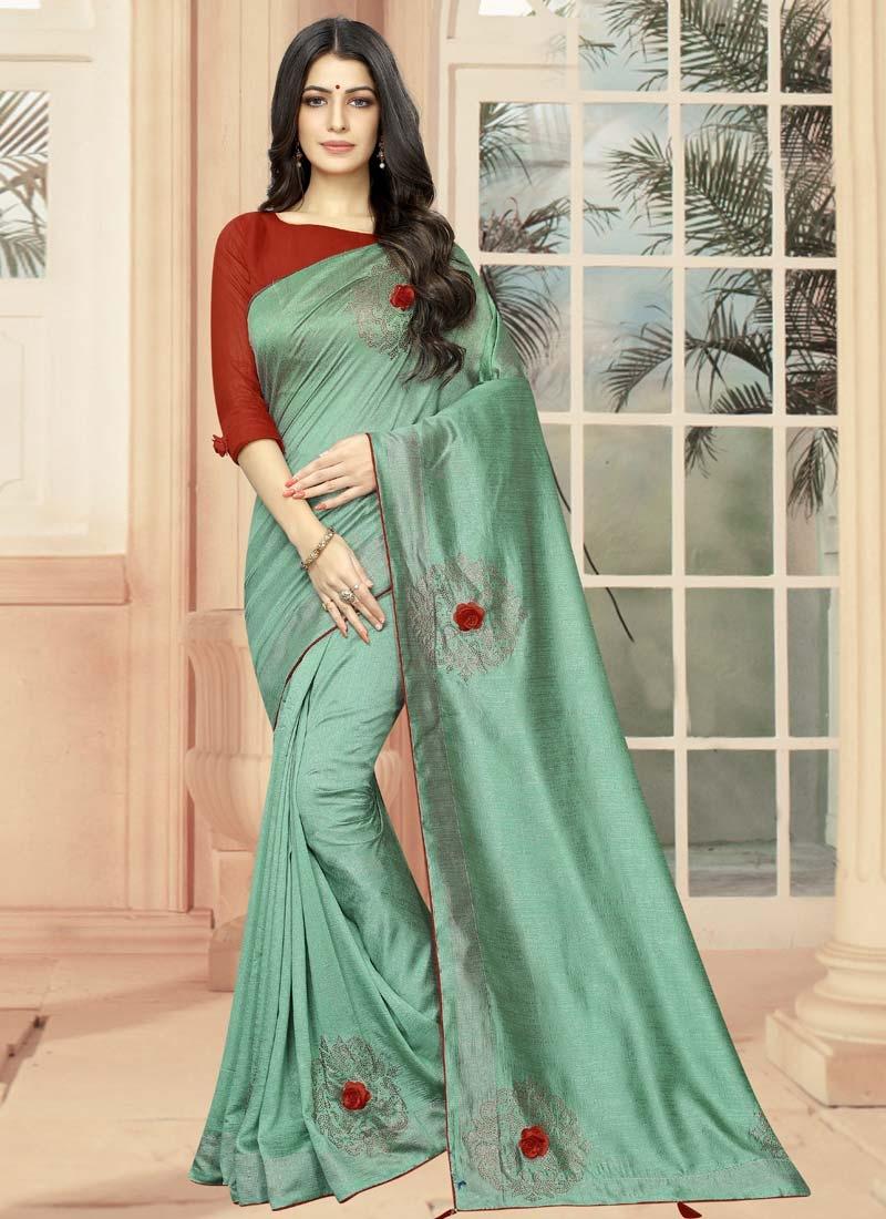 Art Silk Contemporary Style Saree