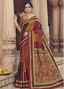Art Silk Contemporary Style Saree For Casual