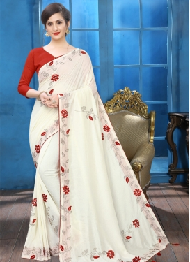 Art Silk Crystal Work Designer Traditional Saree