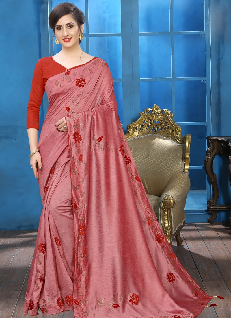 Art Silk Crystal Work Traditional Designer Saree
