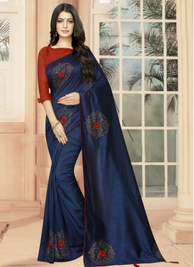 Art Silk Crystal Work Trendy Classic Saree