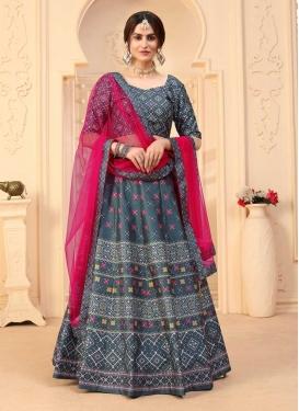 Art Silk Designer A Line Lehenga Choli For Ceremonial