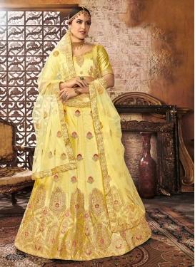 Art Silk Designer Classic Lehenga Choli For Ceremonial