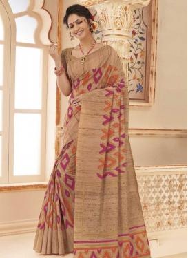 Art Silk Designer Contemporary Saree