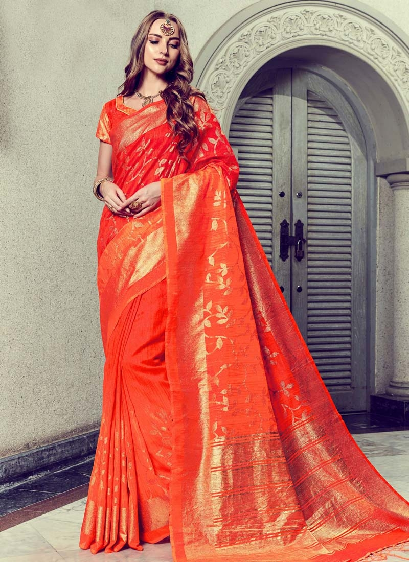 Red wine colour-woven saree of cotton silk Indian traditional wear-can be worn from both side