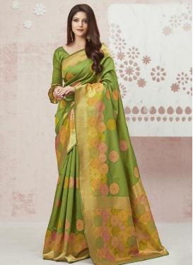 Art Silk Designer Contemporary Saree For Casual