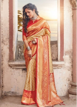 Art Silk Designer Contemporary Saree For Ceremonial
