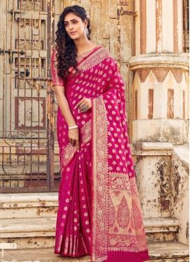 Art Silk Designer Contemporary Saree For Festival