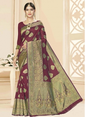 Art Silk Designer Contemporary Style Saree