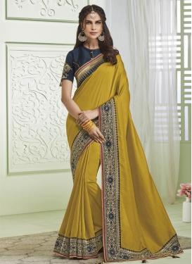 Art Silk Designer Contemporary Style Saree