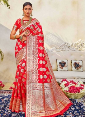Art Silk Designer Contemporary Style Saree For Casual