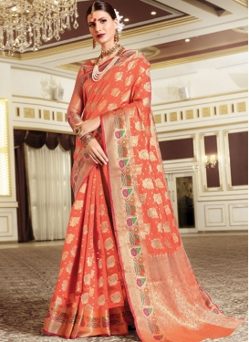 Art Silk Designer Contemporary Style Saree For Ceremonial