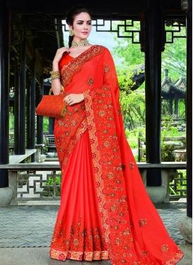 Art Silk Designer Contemporary Style Saree For Ceremonial