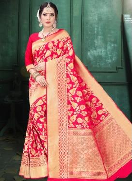 Art Silk Designer Contemporary Style Saree For Festival
