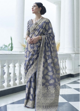 Art Silk Designer Contemporary Style Saree For Festival
