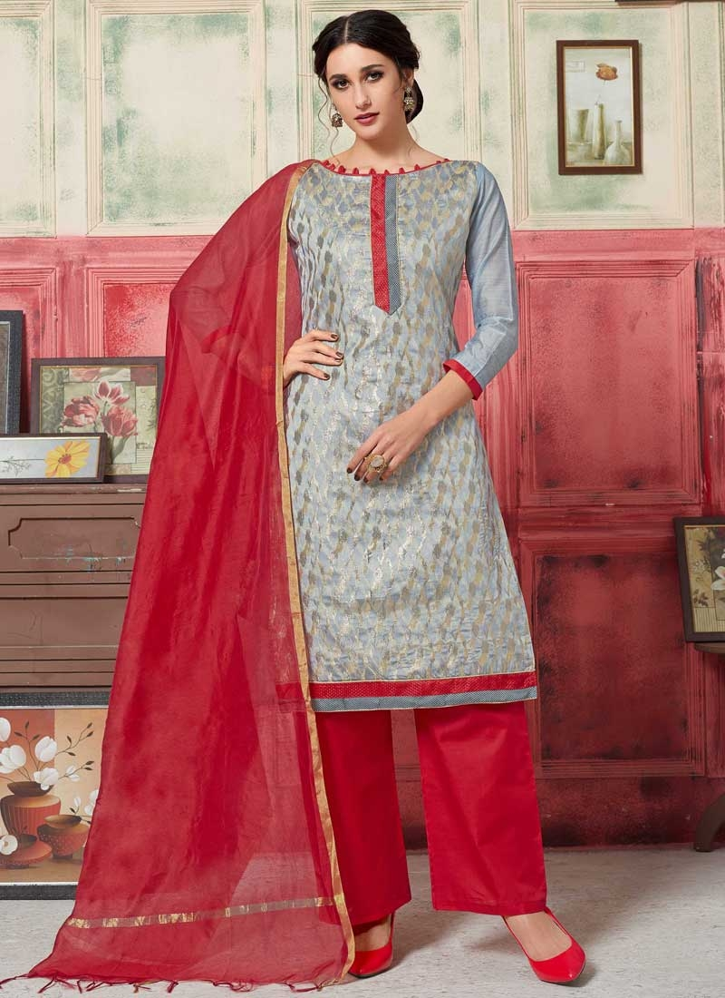 Art Silk Designer Palazzo Salwar Kameez