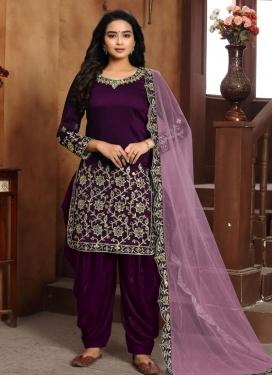 Art Silk Designer Patiala Salwar Suit