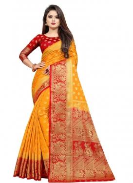 Art Silk Designer Traditional Saree For Casual