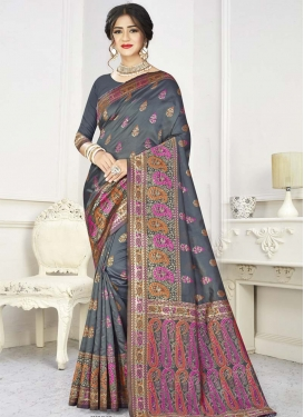 Art Silk Designer Traditional Saree For Casual