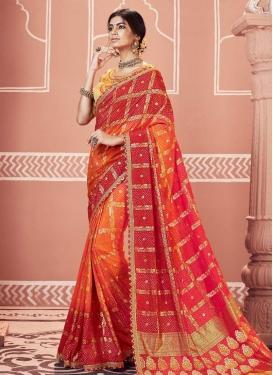 Art Silk Designer Traditional Saree For Festival