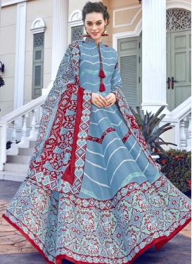 Art Silk Digital Print Work Readymade Classic Gown