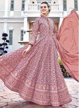 Art Silk Digital Print Work Readymade Designer Gown