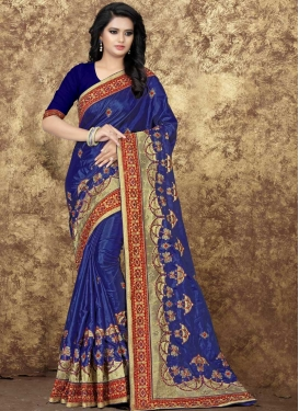 Art Silk Embroidered Work Classic Saree
