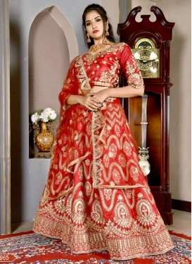 Art Silk Embroidered Work Trendy Lehenga Choli