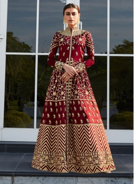 Art Silk Floor Length Designer Salwar Suit