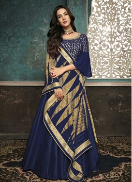 Art Silk Floor Length Designer Suit