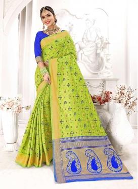 Art Silk Aloe Veera Green Traditional Designer Saree