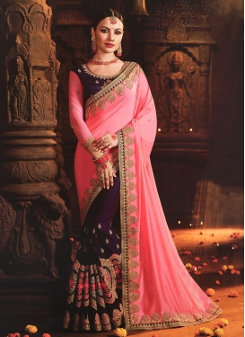 Art Silk Half N Half Trendy Saree For Festival