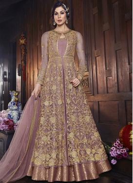 Art Silk Jacket Style Salwar Suit