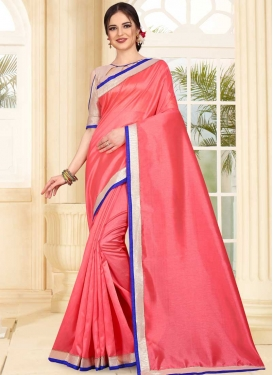 Art Silk Lace Work Designer Contemporary Saree