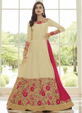 Art Silk Long Length Anarkali Salwar Suit