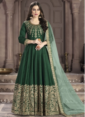 Art Silk Long Length Anarkali Salwar Suit