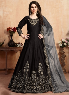 Art Silk Long Length Anarkali Salwar Suit For Festival