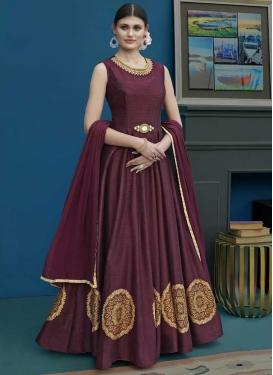 Art Silk Long Length Designer Anarkali Suit