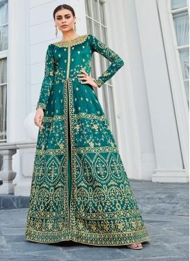 Art Silk Long Length Salwar Kameez