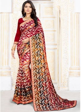 Art Silk Multi Colour Printed Printed Saree