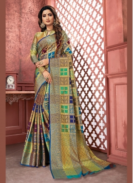 Art Silk Multi Colour Traditional Designer Saree
