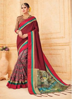 Art Silk Multi Colour Traditional Designer Saree