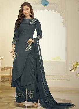 Art Silk Palazzo Designer Salwar Suit
