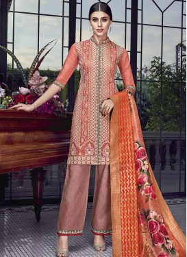 Art Silk Pant Style Classic Salwar Suit