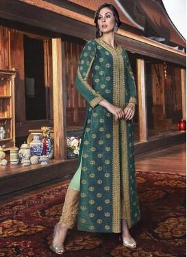 Art Silk Pant Style Classic Salwar Suit For Festival
