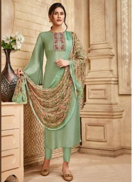 Art Silk Pant Style Pakistani Salwar Suit