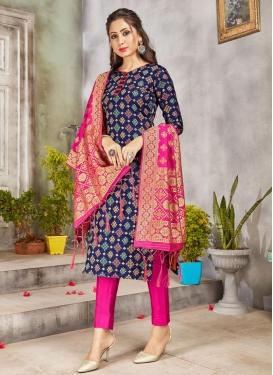 Art Silk Pant Style Salwar Kameez